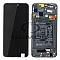 LCD + TOUCH PAD COMPLETE HUAWEI HONOR 8X WITH FRAME AND BATTERY BLACK 02352DWX ORIGINAL SERVICE PACK