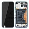 LCD + TOUCH PAD COMPLETE HUAWEI P40 LITE E WITH FRAME AND BATTERY AURORA BLUE 02353FMX ORIGINAL SERVICE PACK