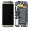 LCD + TOUCH PAD COMPLETE SAMSUNG G925 GALAXY S6 EDGE GOLD GH97-17162C ORIGINAL SERVICE PACK
