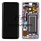 LCD + TOUCH PAD COMPLETE SAMSUNG G960 GALAXY S9 LILAC PURPLE WITH FRAME GH97-21696B ORIGINAL SERVICE PACK