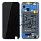 LCD + TOUCH PAD COMPLETE HUAWEI HONOR 8X WITH FRAME AND BATTERY BLUE 02352EAQ ORIGINAL SERVICE PACK