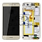LCD + TOUCH PAD COMPLETE HUAWEI P8 LITE SMART TAG-L01 WITH FRAME AND BATTERY GOLD 02350PLD ORIGINAL SERVICE PACK