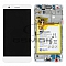 LCD + TOUCH PAD COMPLETE HUAWEI HONOR 5X KIW-L21 WITH FRAME AND BATTERY WHITE 02350PEN ORIGINAL SERVICE PACK