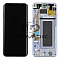 LCD + TOUCH PAD COMPLETE SAMSUNG G955 GALAXY S8 PLUS ORCHID GREY / VIOLET WITH FRAME GH97-20470C ORIGINAL SERVICE PACK
