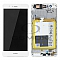 LCD + TOUCH PAD COMPLETE HUAWEI P9 LITE VNS-L31 WITH FRAME AND BATTERY WHITE 02350SLF 02350TQV ORIGINAL SERVICE PACK