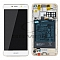 LCD + TOUCH PAD COMPLETE HUAWEI Y6 2017 WITH FRAME AND BATTERY WHITE 02351DME ORIGINAL SERVICE PACK
