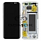 LCD + TOUCH PAD COMPLETE SAMSUNG G950 GALAXY S8 SILVER WITH FRAME GH97-20457B ORIGINAL SERVICE PACK