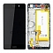 LCD + TOUCH PAD COMPLETE HUAWEI P8 LITE WITH FRAME AND BATTERY BLACK 02350KCW ORIGINAL SERVICE PACK