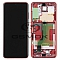 LCD + TOUCH PAD COMPLETE SAMSUNG G985 GALAXY S20 PLUS COSMIC RED WITH FRAME GH82-22134G, GH82-22145G ORIGINAL SERVICE PACK