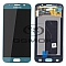LCD + TOUCH PAD COMPLETE SAMSUNG G920 GALAXY S6 BLUE GH97-17260D ORIGINAL SERVICE PACK